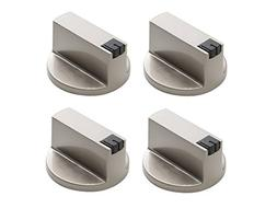 KINGZHUO 4 Pc 6MM 180° Stainless Steel Round Gas Stove Knob