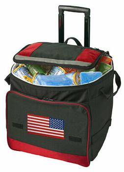 USA Rolling Cooler Bag with Wheels - GREAT 4TH OF JULY COOLE