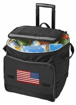 USA Rolling Cooler Bag with Wheels-GREAT FOR THE 4TH OF JULY