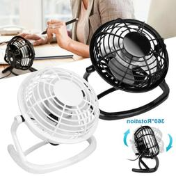 USB Fan Mini Portable Desktop Cooling Desk Quiet Fan Office