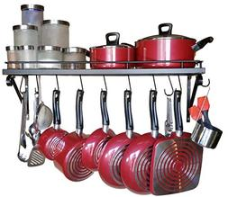 """30"""" Wall mounted pots and pans rack. Pot holders wall shelve"""
