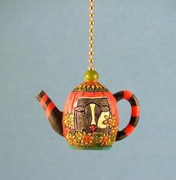 Whimsical Cow Teapot Kitchen Dining Fan Light Pull