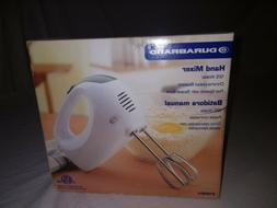 Durabrand White 125 Watts Hand Mixer with 5 Five Speeds & Di