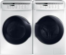 Samsung White Flex Washer & Electric Dryer WV55M9600AW and D