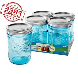 Ball Wide Mouth Canning Mason Jars Pint Collection Elite Blu