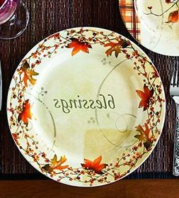 Wind & Weather PS7215 Autumn Thanksgiving Blessings Ceramic