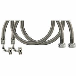 WMSL6 2-PACK Braided Stainless Steel Washing Machine Connect