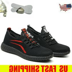 Women's Breathable Work Boots Safety Shoes Steel Toe Cap Lig