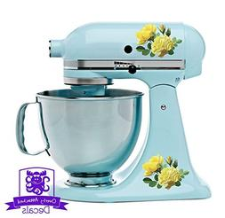 Yellow Roses Kitchen Stand Mixer Appliance Decal Front/Back